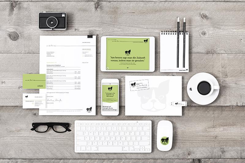 Übersicht einer Corporate Design Anwendung