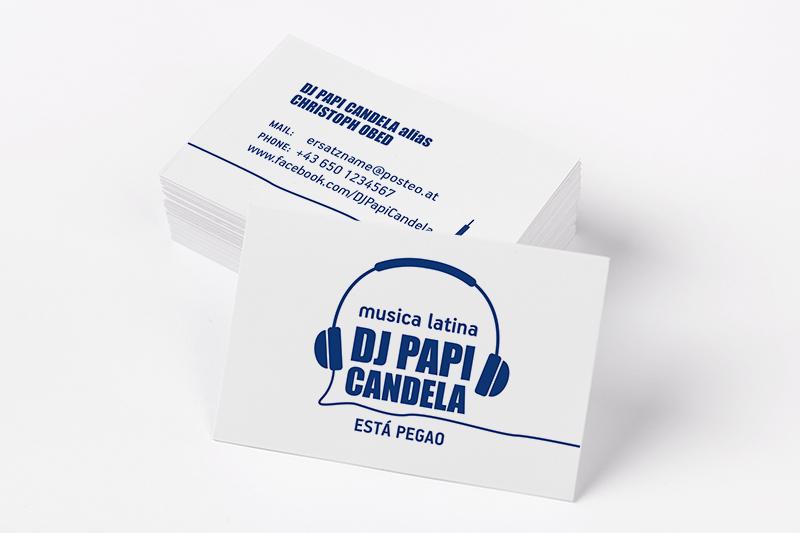 Logo - Visitenkarte DJ Papi