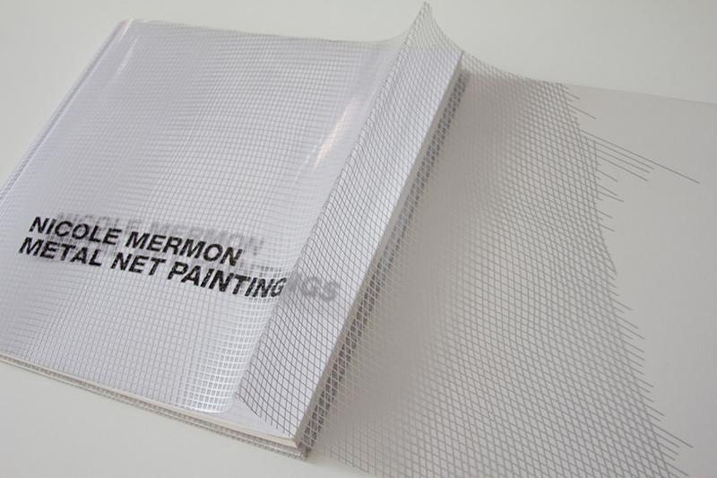 Das transparente Cover des Buches Metalnet Paintings über die Künstlerin Nicole Mermon