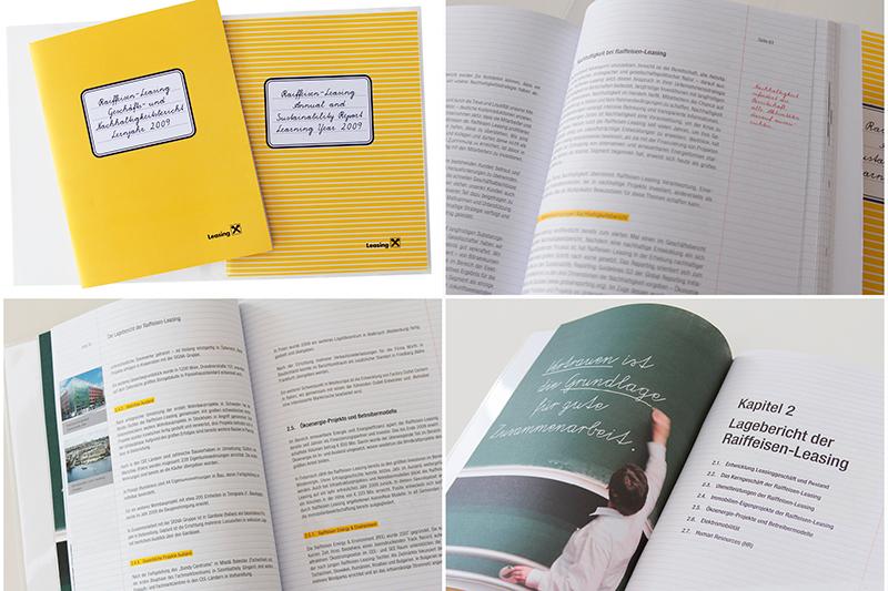 """Raiffeisen-Leasing Geschäfts- und Nachhaltigkeitsbericht für das """"Lernjahr"""" 2009"""