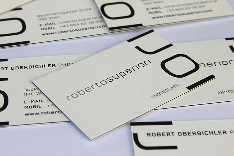 Logo + Visitenkarte – Robert Oberbichler