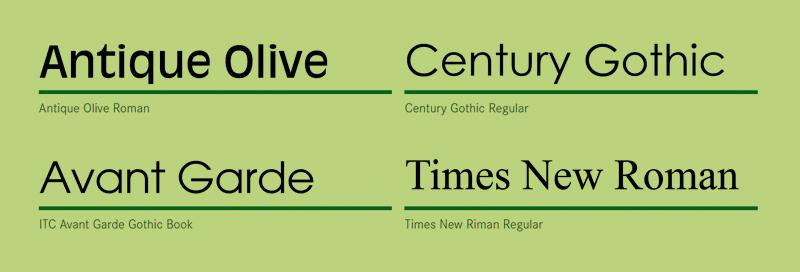 Schon die Namen mancher Schriftformen weisen auf den Zusammenhang von Schrift und Kultur.