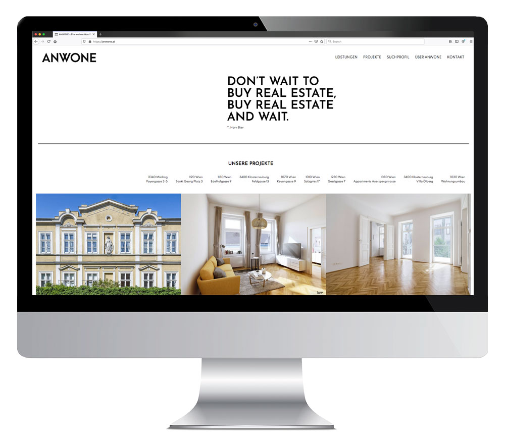 Screendesign www.anwone.at
